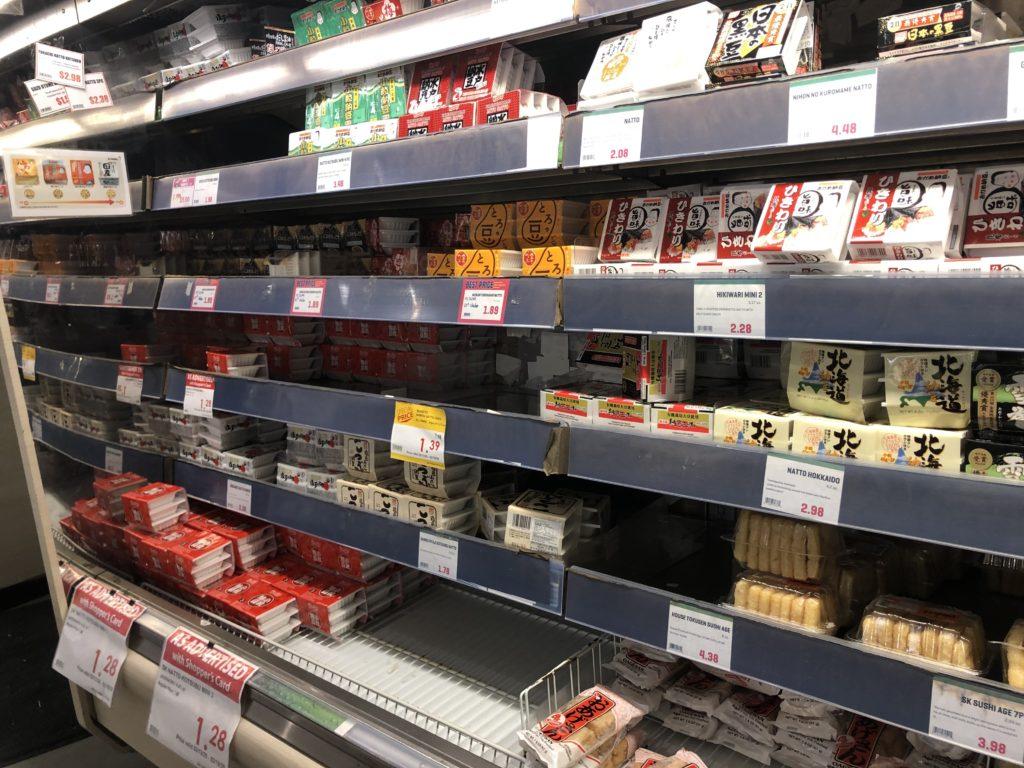 日系スーパーの納豆