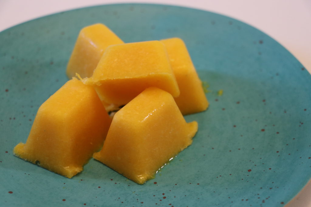 手作りオレンジシャーベット