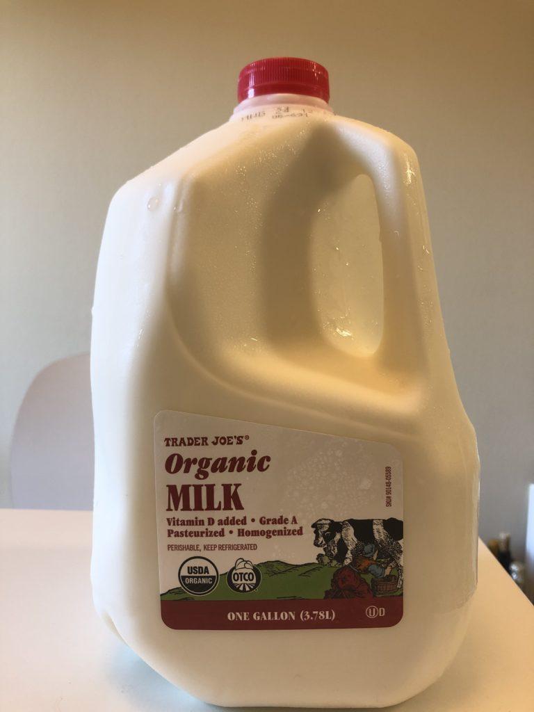 トレジョの牛乳