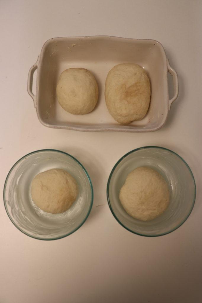 グラタン皿で食パン作り