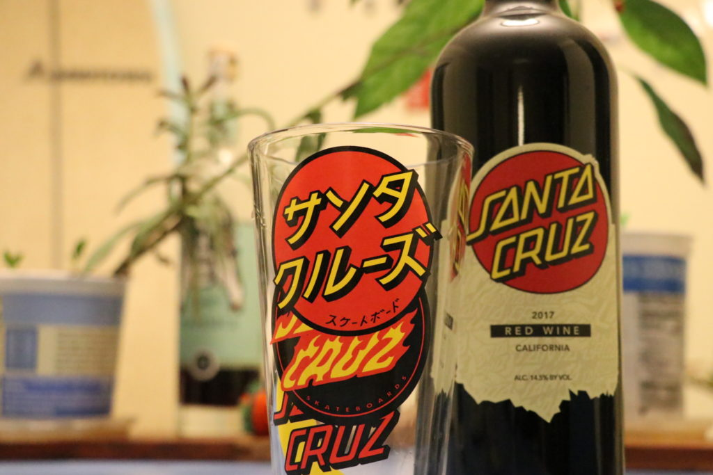 サンタクルーズ、ワイン、グラス