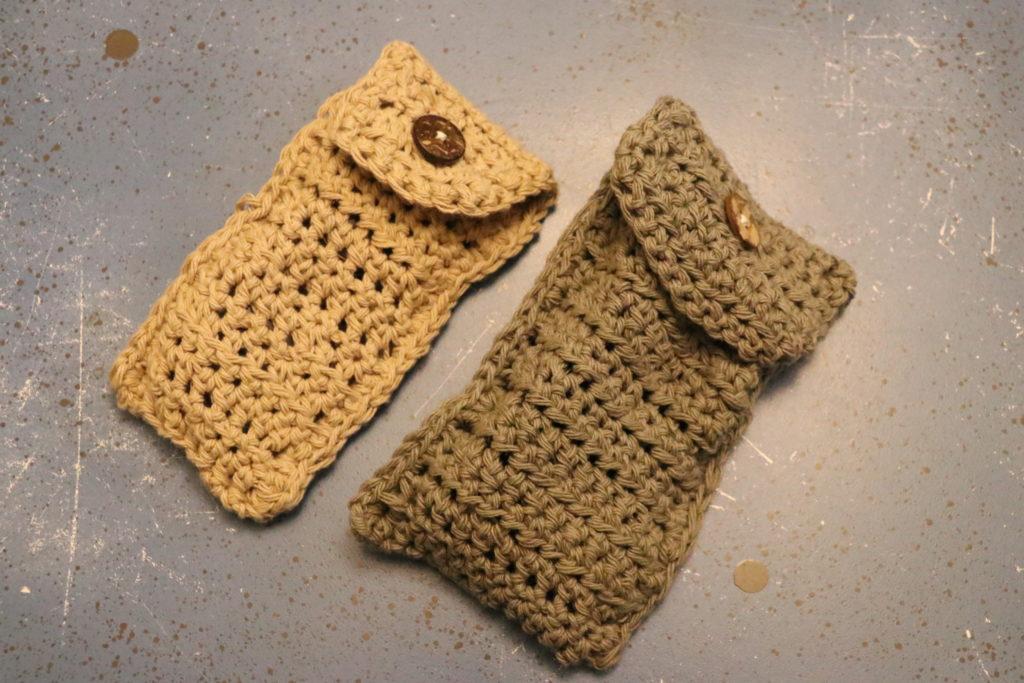 サングラスケース、メガネケース、かぎ編み