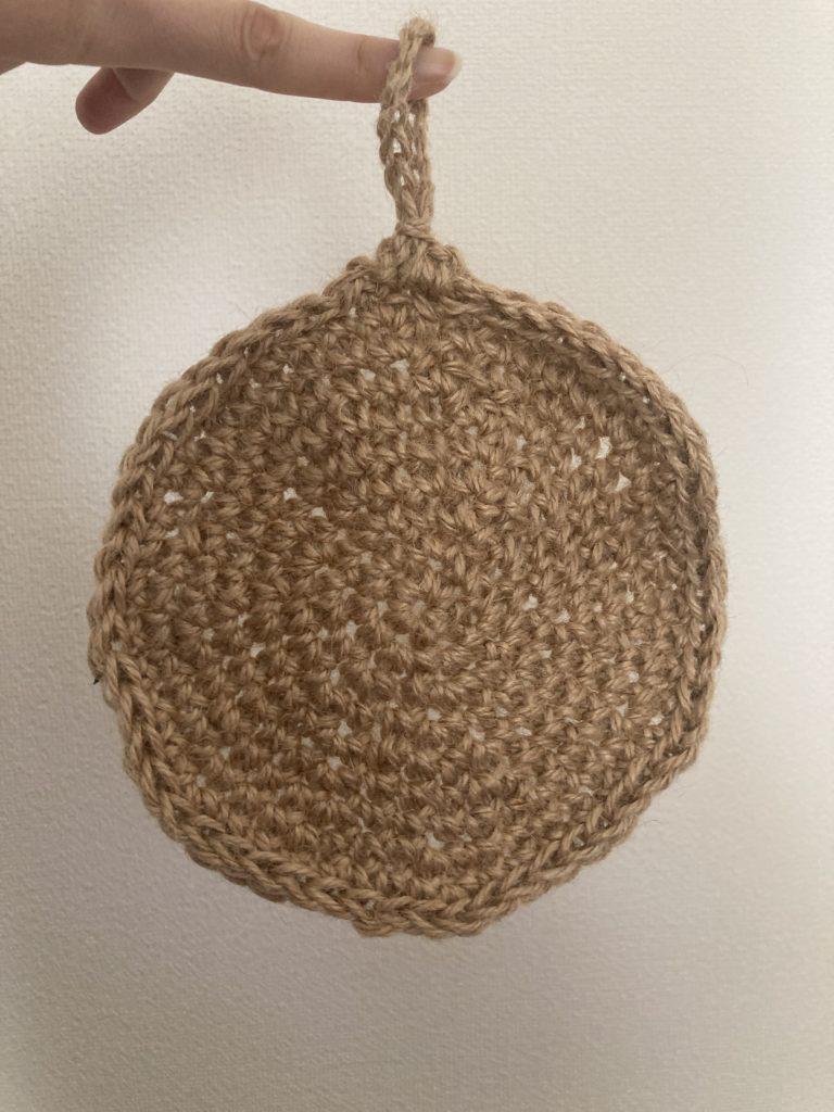 麻紐、かぎ編み、鍋敷き、サステイナブル
