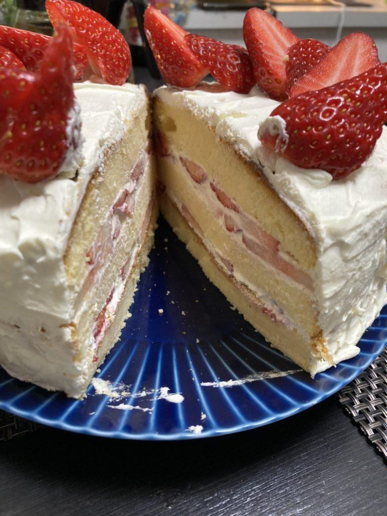 イチゴのケーキ、モントン、クリスマス
