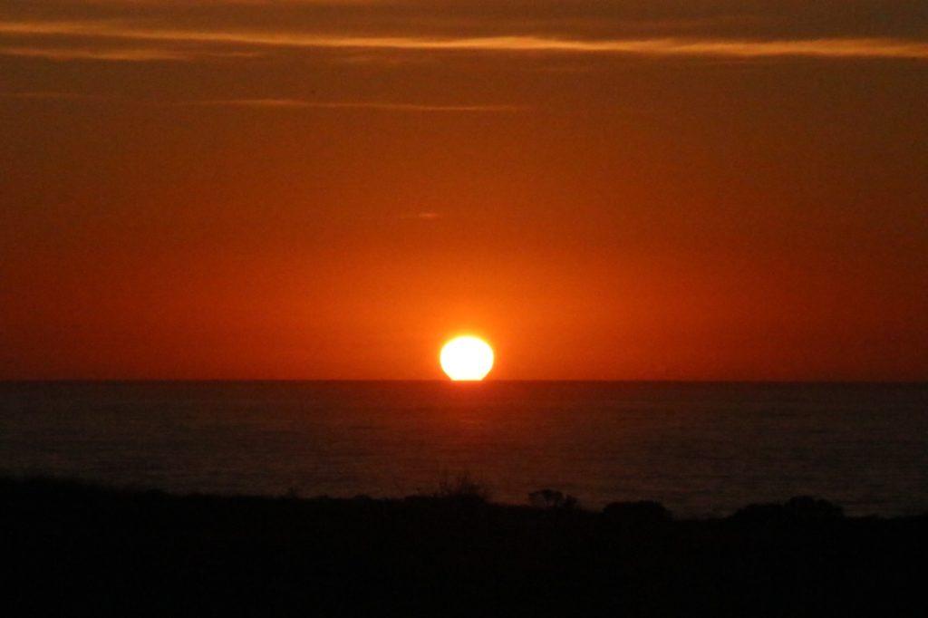 カリフォルニア、だるま夕日