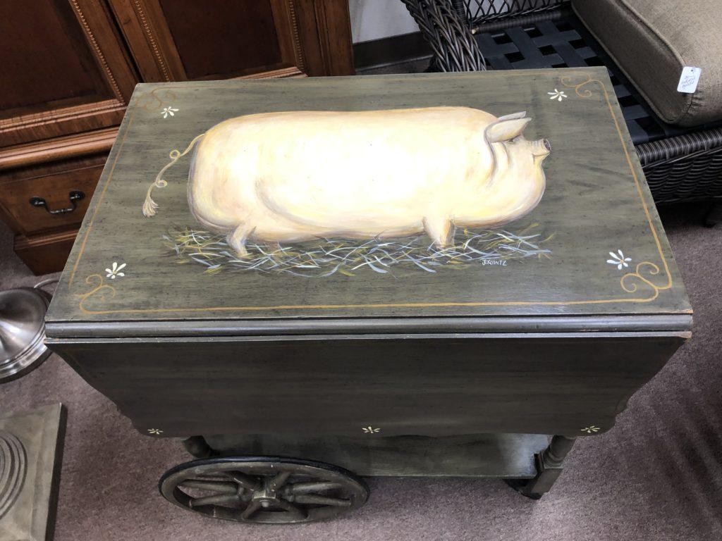 アメリカ、Thrift store, antique shop、豚グッズ