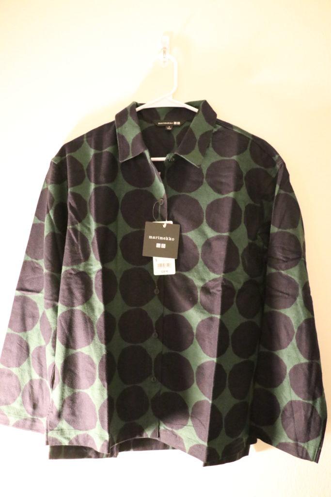 ユニクロ、マリメッココラボ、ロングスリーブフランネルシャツ