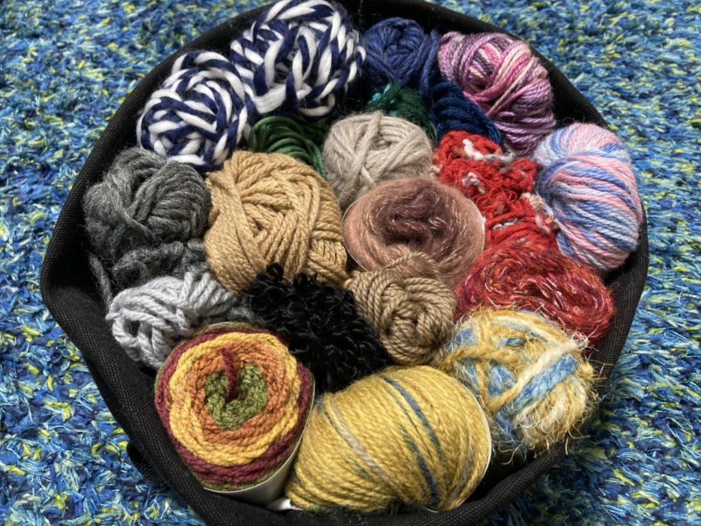 一時帰国 毛糸 かぎ編み