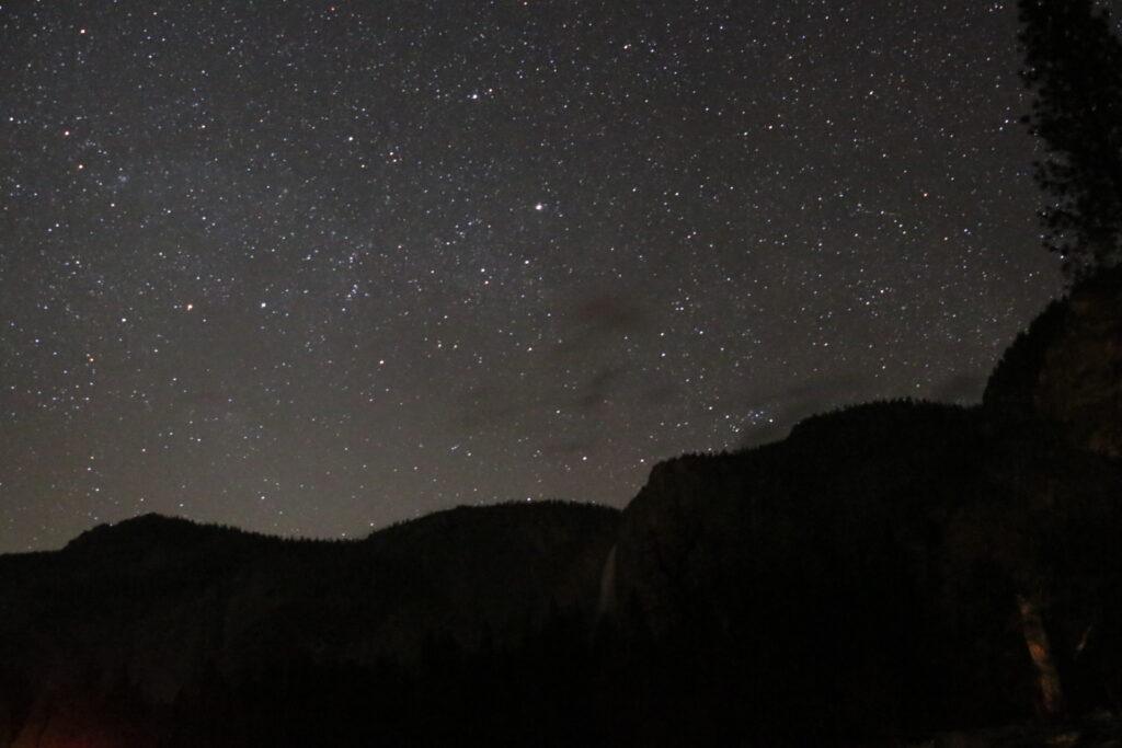 ヨセミテ国立公園、星空、夜景、天の川