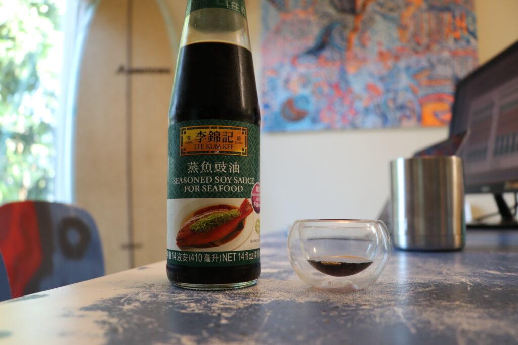 蒸魚豉油、李錦記、醤油、香港、広東料理、豚バラ、青ネギ巻き