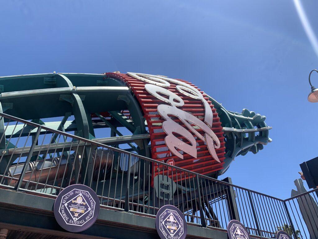 オラクルパーク、サンフランシスコ・ジャイアンツ、野球観戦、コーラ、コカコーラ